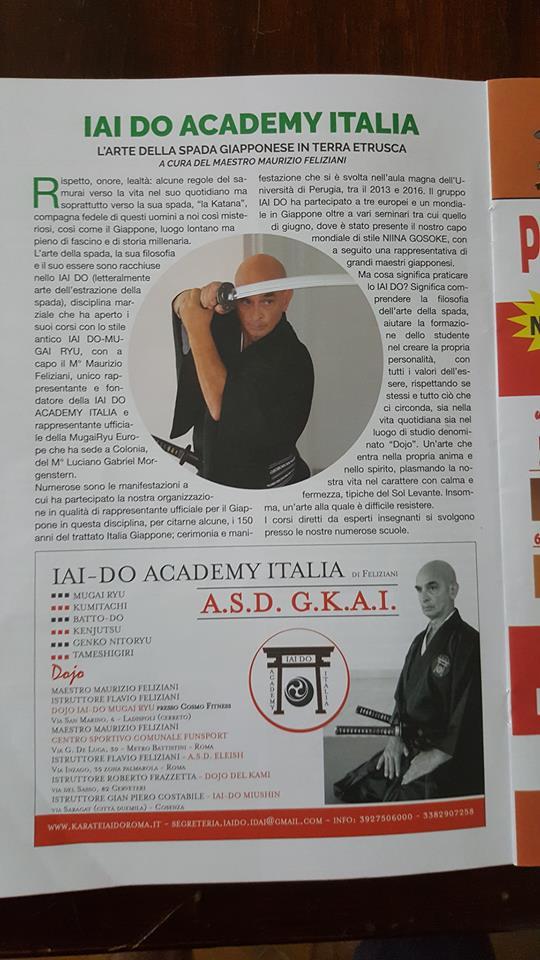 """Articolo """"L'ortica"""" sul gruppo Iaido Academy Italia"""